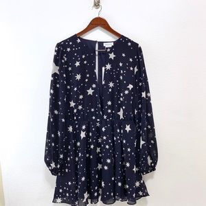 Lovers + Friends Dresses - Lovers + Friends- Lana Navy Star Dress Size Large